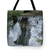 Koi Pond Waterfall Tote Bag
