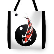 Koi Showa Circles Nishikoi Painting Tote Bag