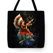 Koi Warrior Tote Bag