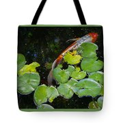 Koi With Lily Pads A Tote Bag