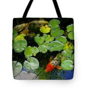 Koi With Lily Pads D Tote Bag