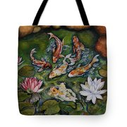 Kois In A Pond Tote Bag