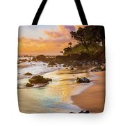 Koki Beach Sunrise Tote Bag by Inge Johnsson