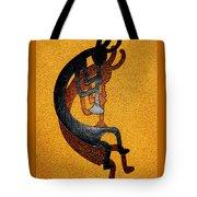 Kokopelli Golden Harvest Tote Bag