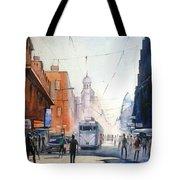 Kolkata City With Tram Tote Bag