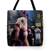 Komondor Art Canvas Print - The Town Night Out Tote Bag
