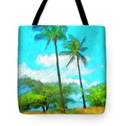 Kona Palms Tote Bag