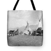 Kootenai First Nations Camp, C.1920-30s Tote Bag
