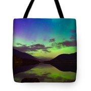 Kootenay Lake Northern Lights Tote Bag