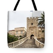 Korcula Old Town Stairs Tote Bag