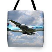 Korean Air Airbus A380 Tote Bag