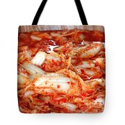 Korean Style Fermented Spicy Cabbage Tote Bag