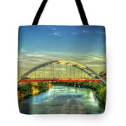 Korean Veterans Memorial Bridge 2 Nashville Tennessee Sunset Art Tote Bag