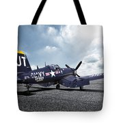Korean War Hero F4-u Corsair Tote Bag
