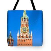 Kremlin's Clock Tower Tote Bag