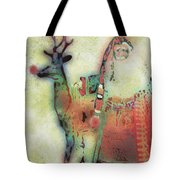 Kris And Rudolph Tote Bag by Arline Wagner