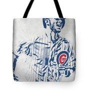 kris bryant CHICAGO CUBS PIXEL ART 2 Tote Bag