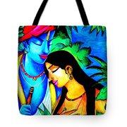 Krishna And Radha Tote Bag