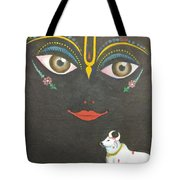 Krishna With Cow Tote Bag