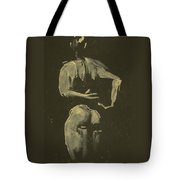kroki 2014 09 27_4 figure drawing white chalk Marica Ohlsson Tote Bag