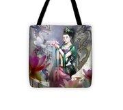 Kuan Yin Lotus Of Healing Tote Bag