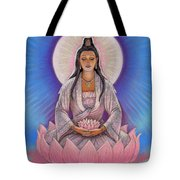 Kuan Yin Tote Bag by Sue Halstenberg