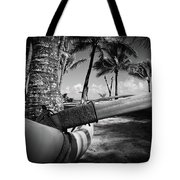 Kuau Palm Trees Hawaiian Outrigger Canoe Paia Maui Hawaii Tote Bag