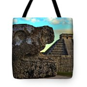 Kukulkan Pyramid At Chichen Itza In The Yucatan Of Mexico Tote Bag