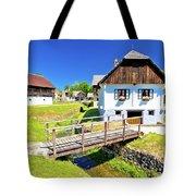 Kumrovec Picturesque Village In Zagorje Region Of Croatia Tote Bag