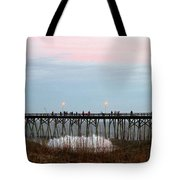 Kure Beach Pier Tote Bag