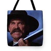 Kurt Russell As Wyatt Earp  In Tombstone 1993 Tote Bag