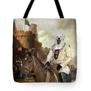Kuvasz Art Canvas Print - The Enchanted Forest Tote Bag