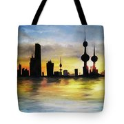 Kuwait City Sunset From The Bay Tote Bag