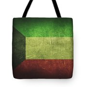 Kuwait Distressed Flag Dehner Tote Bag