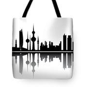 Kuwait Skyline Tote Bag