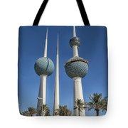 Kuwait Towers In Kuwait City, Kuwait Tote Bag