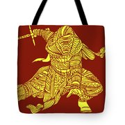 Kylo Ren - Star Wars Art - Red And Yellow Tote Bag