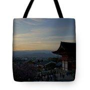 Kyoto And Kiyomizu-dera At Sunset Tote Bag