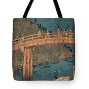 Kyoto Bridge By Moonlight Tote Bag