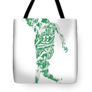 Kyrie Irving Boston Celtics Pixel Art 43 Tote Bag