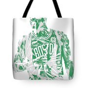 Kyrie Irving Boston Celtics Pixel Art 7 Tote Bag