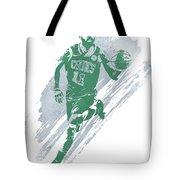 Kyrie Irving Boston Celtics Water Color Art 4 Tote Bag