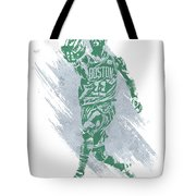 Kyrie Irving Boston Celtics Water Color Art Tote Bag