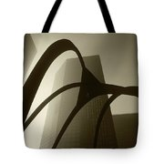 La Abstract Bw Tote Bag