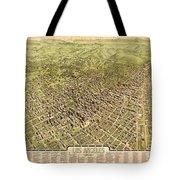 La Antique Map Tote Bag