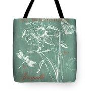 La Botanique Aqua Tote Bag by Debbie DeWitt
