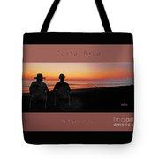 la Casita Playa Hermosa Puntarenas Costa Rica - Sunset Happy Couple Panorama Greeting Card Bold Tote Bag
