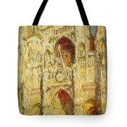 La Cathedrale De Rouen Le Portail Et La Tour Saint-ro Claude Oscar Monet Tote Bag