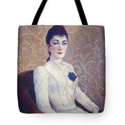La Dame La Robe Blanche 1886 Tote Bag