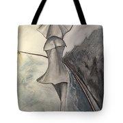 La Femme Au Parapluie Tote Bag